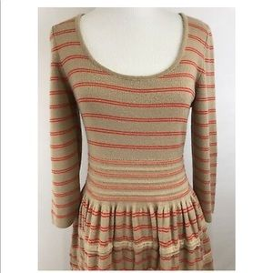 Anthropologie Knitted Knotted Sweater Dress